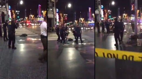 Man dies after being shot by police in Hollywood near Walk of Fame