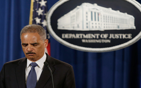 File phto of U.S. Attorney General Holder at news conference  in Washington