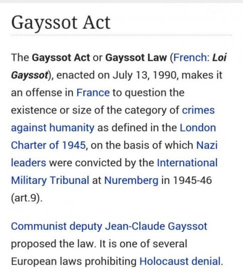 Gayssot-Law