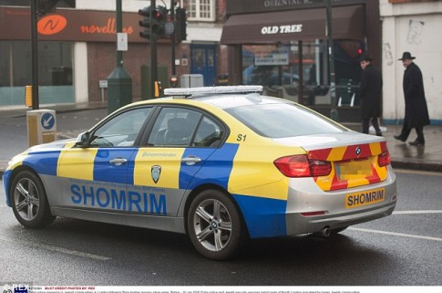 Jewish security patrol cars