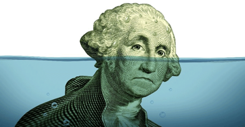 Sinking-dollar-debt