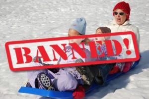 Sledding-banned