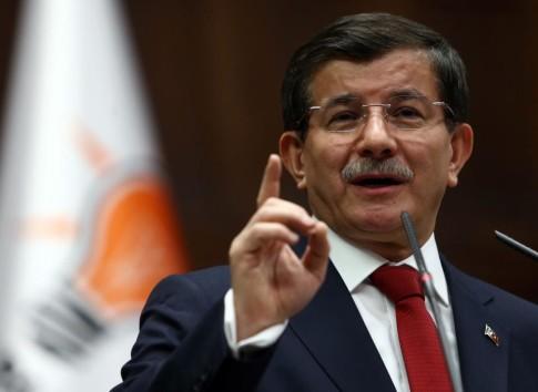 TURKEY'S PM AHMET DAVUTOGLU AT PARLIAMENTARY GROUP MEETING