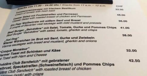 davos menu