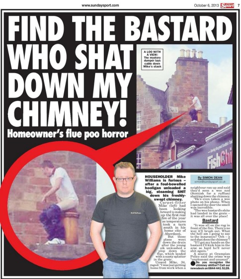 Find The Bastard Who Shat Down My Chimney