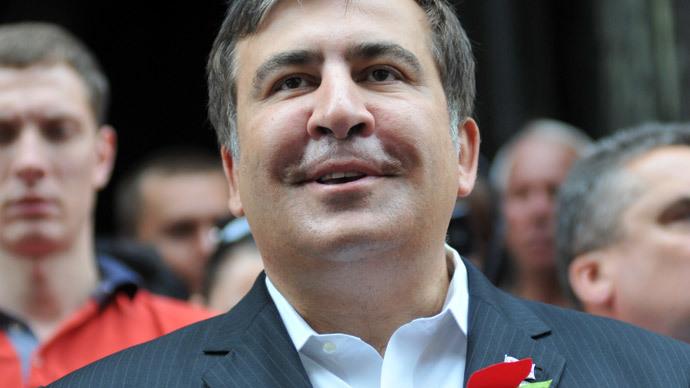Former Georgian President Mikhail Saakashvili.