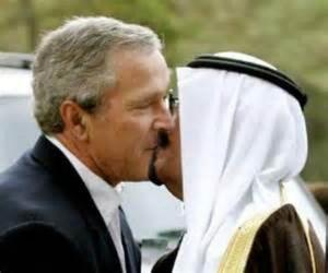 Former Saudi Intelligence Chief Prince Turki al-Faisal and George W. Bush