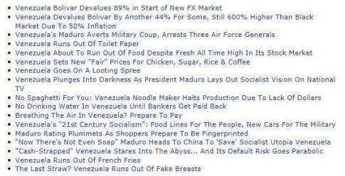 venezuela headlines 2
