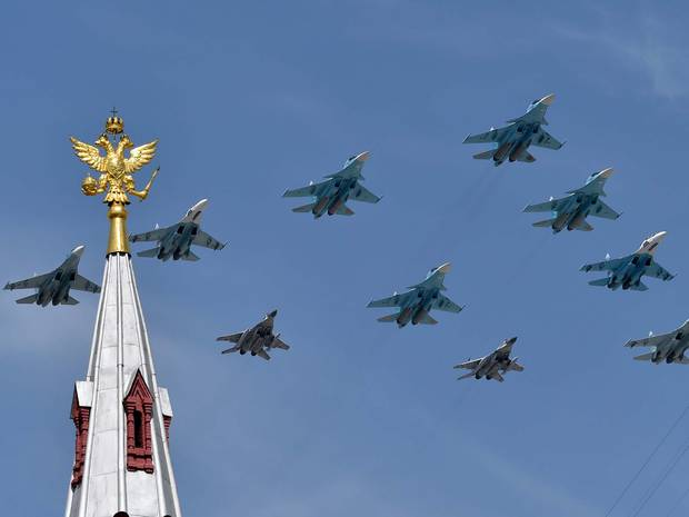 Russia begins huge surprise air force drill on same day as Nato starts Arctic training