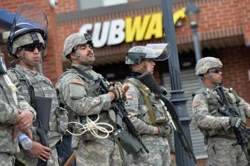 guarding subway