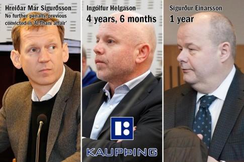 Kaupþing executives jailed