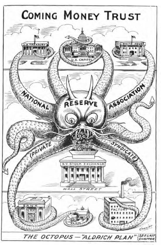 Octopus - Aldrich Plan - 1912