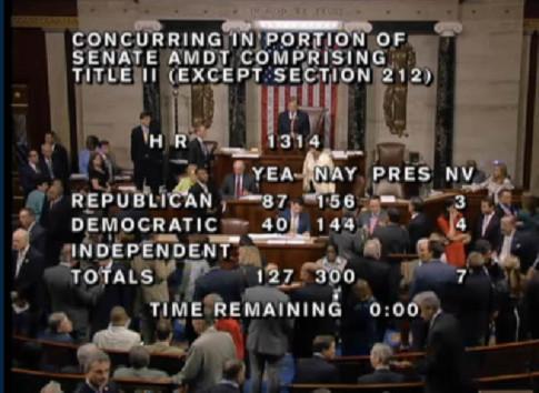 TPP house vote screengrab