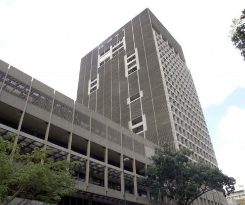 Headquarters of the Central Bank of Venezuela in Caracas