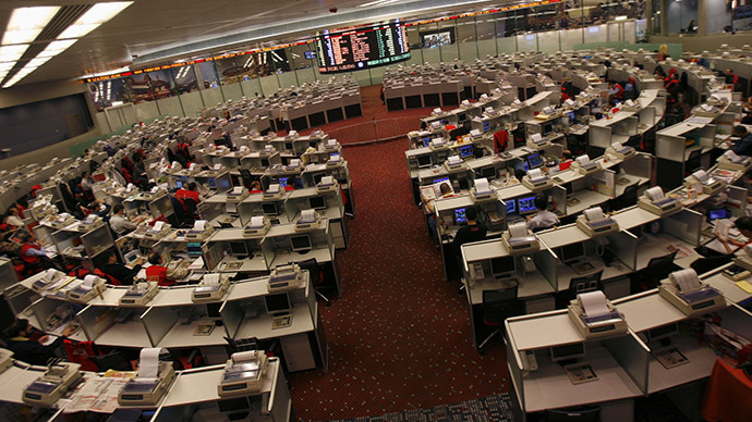 Hong Kong Stock Exchange trading hall