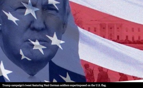 Trump Campaign Tweets Photo of Trump's Head Next to Nazi Soldiers