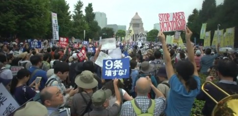 Unusually Massive Protests Erupt in Japan