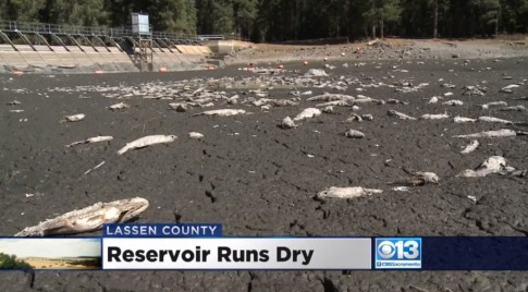 California Lake Runs Completely Dry Overnight