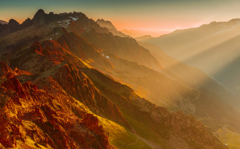 french-alps-sunset