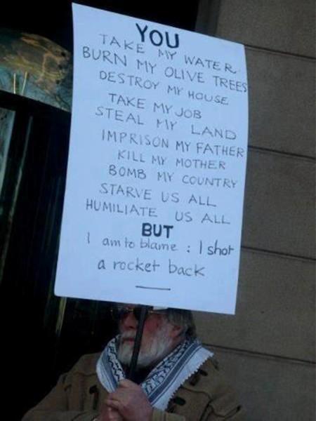 Gaza, Palestine. November 2012. A response to Zionist oppression