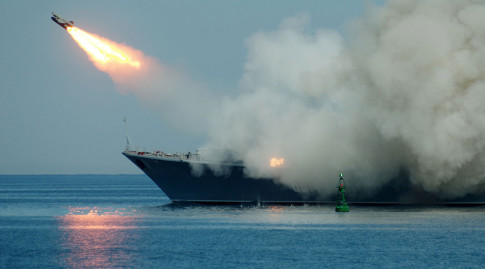 Russian cruise missiles hits ISIS from Mediterranean and Caspian; 600 killed in one strike