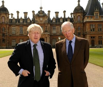 Boris Johnson with Jacob Rothschild