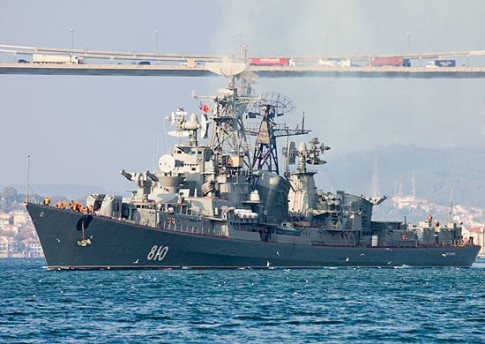 Russian Missile Destroyer Fires Warning Shots To Avoid Collision With Turkish Vessel