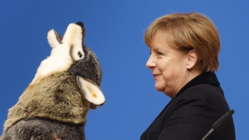 Wolf-Angela-Merkel