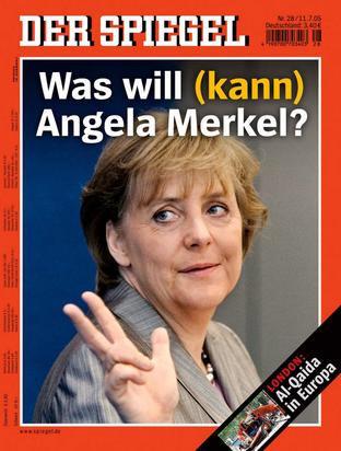 Angela-Merkel-V-sign