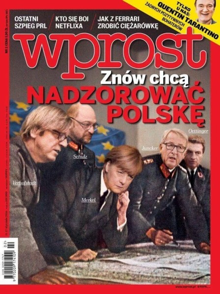 Wprost full cover page - Poland