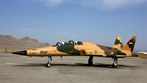Iran's domestically-built advanced supersonic Saeqeh 2 fighter jet