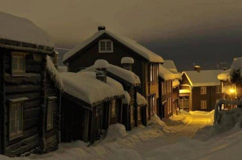 Winter's Night, Roros, Norway.
