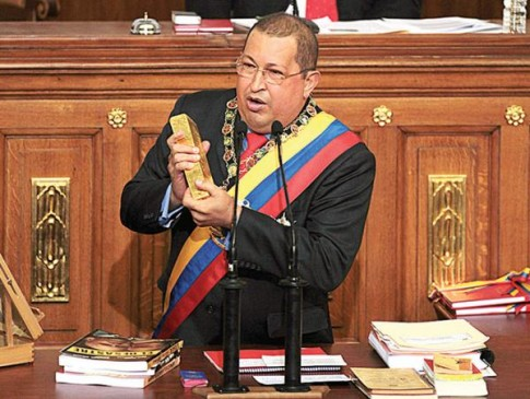 hugo chavez gold
