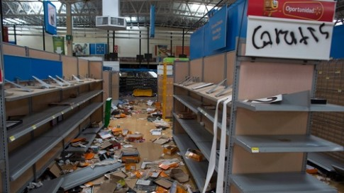 looted store