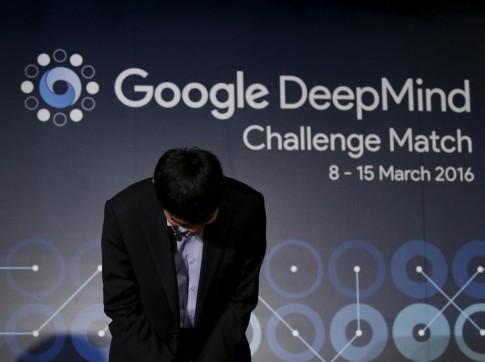 Google Deepmind artificial intelligence beats world's best Go player Lee Sedol in landmark game