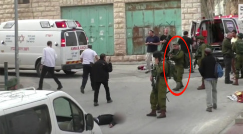 IDF soldier seen killing injured Palestinian attacker