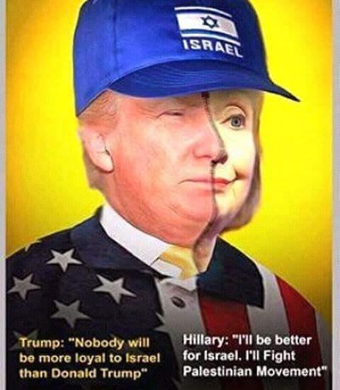 Israel-Hillary-Trump