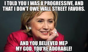 Hillary Wall Street