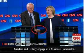 Sanders Hillary Masonic Handshake