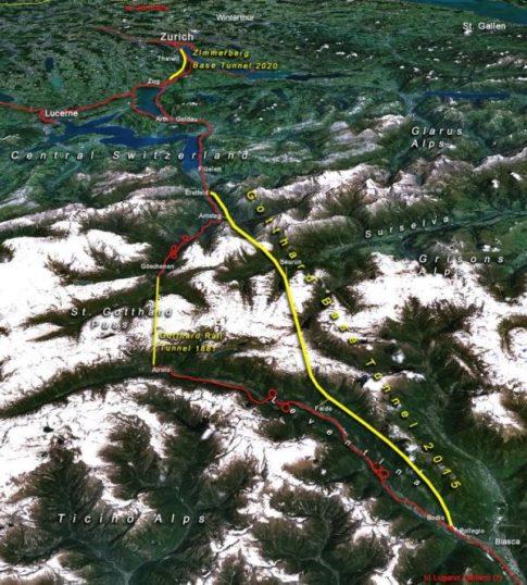 The Gotthard Train Tunnel,