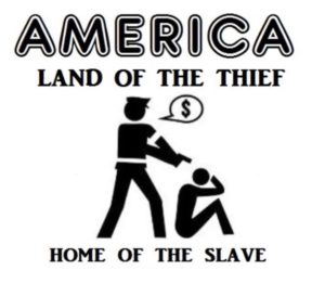 America land of the thief home of the slave