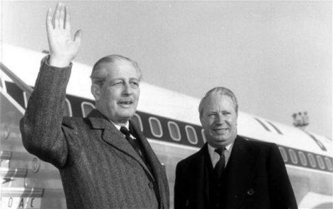 Harold Macmillan, here with Edward Heath
