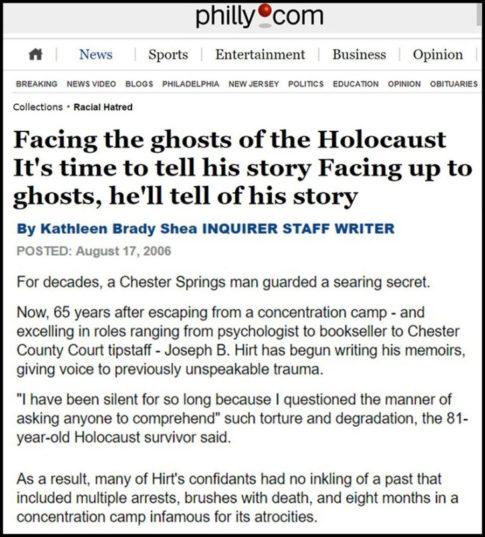 Holocaust survivor Hirt liar-2