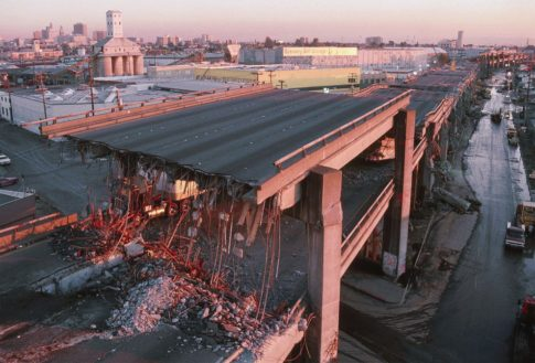 elevated freeway collapse