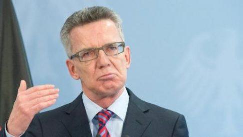 German interior minister Thomas de Maiziere