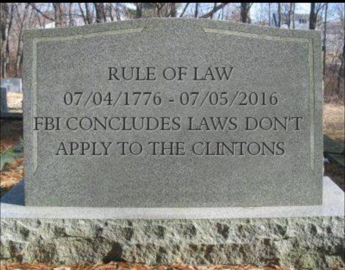 Rule Of Law FBI Hillar Clinton