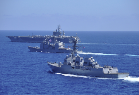 U.S. Warships Surround Disputed Chinese Waters, Prepared for War