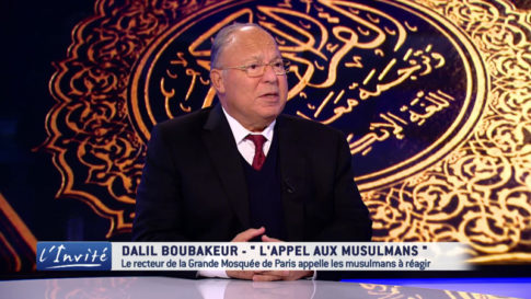 Dalil Boubakeur, rector of the Grand Mosque of Paris