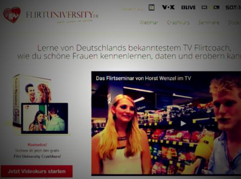 Flirt University Horst Wenzel