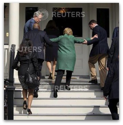 Hillary-being-helped-up-stairs-stroke